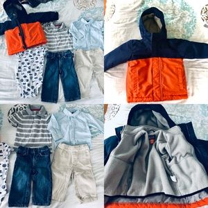 Boys 12-18 month winter clothing lot brand names